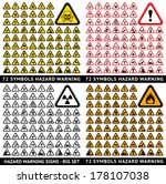 triangular warning hazard 72... | Shutterstock .eps vector #178107038