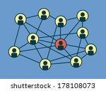 social media circles  network...   Shutterstock .eps vector #178108073