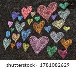 Colourful And Happy Hearts In...