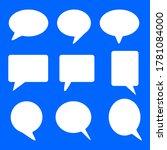blank white speech bubbles set...   Shutterstock .eps vector #1781084000