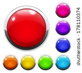 Set Of Multicolored Big Button...