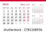 june page. 12 months premium... | Shutterstock .eps vector #1781108936