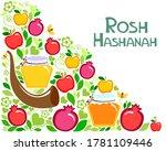 rosh hashanah  jewish new year... | Shutterstock .eps vector #1781109446