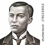 Andres Bonifacio (1863-1897) Portrait from Philippines 20 Pesos 1949 Banknotes.