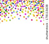 color confetti frame  with... | Shutterstock .eps vector #178113638
