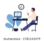 concept of good time management ... | Shutterstock .eps vector #1781142479