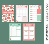 printable monthly  weekly and... | Shutterstock .eps vector #1781144720