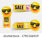 summer sale banner with sun... | Shutterstock .eps vector #1781166419
