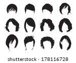 short hair silhouette