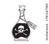 happy halloween. poison in a...   Shutterstock .eps vector #1781167583