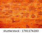 Orange Brick Wall Background ...