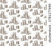 Saving Money  Coins Seamless...