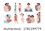 set about pregnancy and... | Shutterstock .eps vector #1781199779