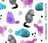 bright seamless pattern with... | Shutterstock .eps vector #1781217170