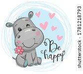 greeting card cute cartoon... | Shutterstock .eps vector #1781218793