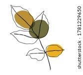 autumn icon line art. abstract... | Shutterstock .eps vector #1781229650