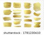 brush strokes gold effect... | Shutterstock .eps vector #1781230610