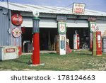 Antique Gas Station Pumps And...