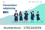happy diverse students... | Shutterstock .eps vector #1781262056