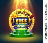 casino free spins  777 slot... | Shutterstock .eps vector #1781267603