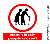 Vector Signs Of Elderly Area...
