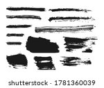 set of black paint  ink brush...   Shutterstock .eps vector #1781360039