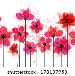 stylized red flowers. abstract... | Shutterstock .eps vector #178137953
