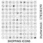 shopping icon for web design.... | Shutterstock .eps vector #178138190