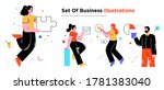 business concept illustrations. ... | Shutterstock .eps vector #1781383040