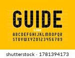guide line font  alphabet... | Shutterstock .eps vector #1781394173