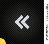 left arrow icon.double chevron...