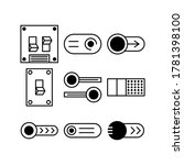 switch icon or logo isolated...