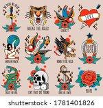 set flash with old school... | Shutterstock .eps vector #1781401826