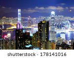 hong kong at night | Shutterstock . vector #178141016