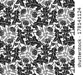 floral seamless pattern with... | Shutterstock .eps vector #178141124