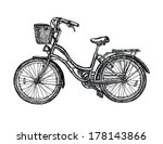 vintage bicycle vector... | Shutterstock .eps vector #178143866