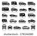 set of transport black icons... | Shutterstock .eps vector #178146380