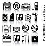 transport service set of black... | Shutterstock .eps vector #178146386