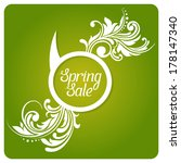 spring sale bubble speach with...