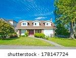 big custom made luxury house...   Shutterstock . vector #178147724