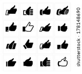 like  set icons. vector... | Shutterstock .eps vector #178148690