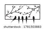 birds standing on frame of a... | Shutterstock .eps vector #1781503883