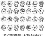handwriting icon set   brain... | Shutterstock . vector #1781521619