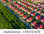 Suburb Top View. Suburbia. Two...
