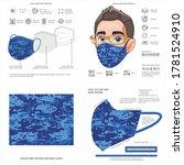 face mask background design ... | Shutterstock .eps vector #1781524910