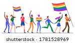 people on lgbt pride parade... | Shutterstock .eps vector #1781528969