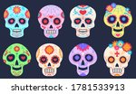 dead day skulls. dia de los...   Shutterstock .eps vector #1781533913