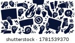 set of icons featuring raised... | Shutterstock .eps vector #1781539370