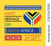 heritage day of  south africa... | Shutterstock .eps vector #1781547050