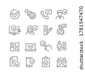 approve related icons  thin... | Shutterstock .eps vector #1781547470
